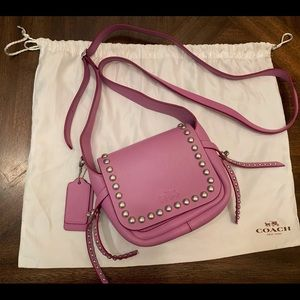 Coach Shoulder bag Crossbody with stud purple